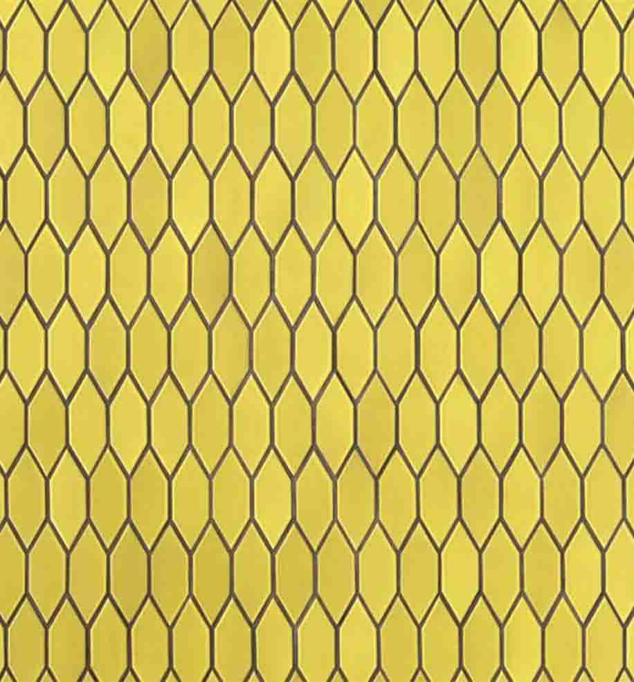 Heath Ceramics pattern in Lemon