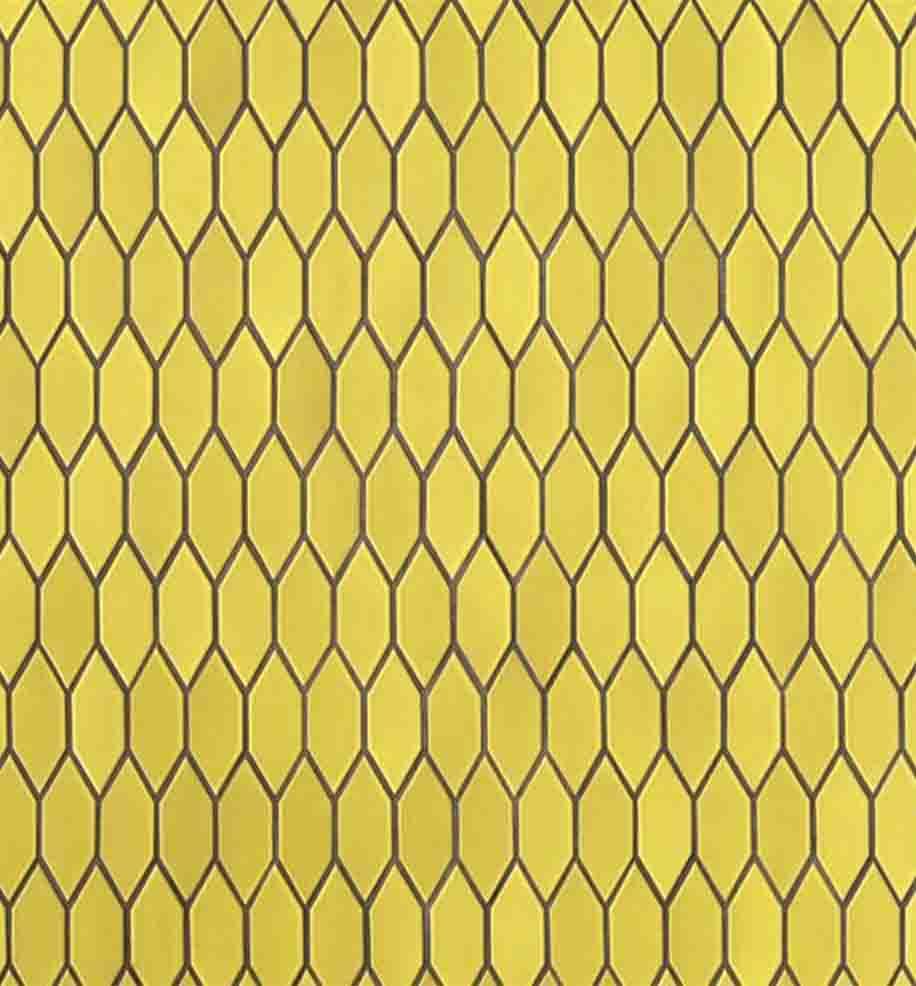 Heath Ceramics pattern in Lemon