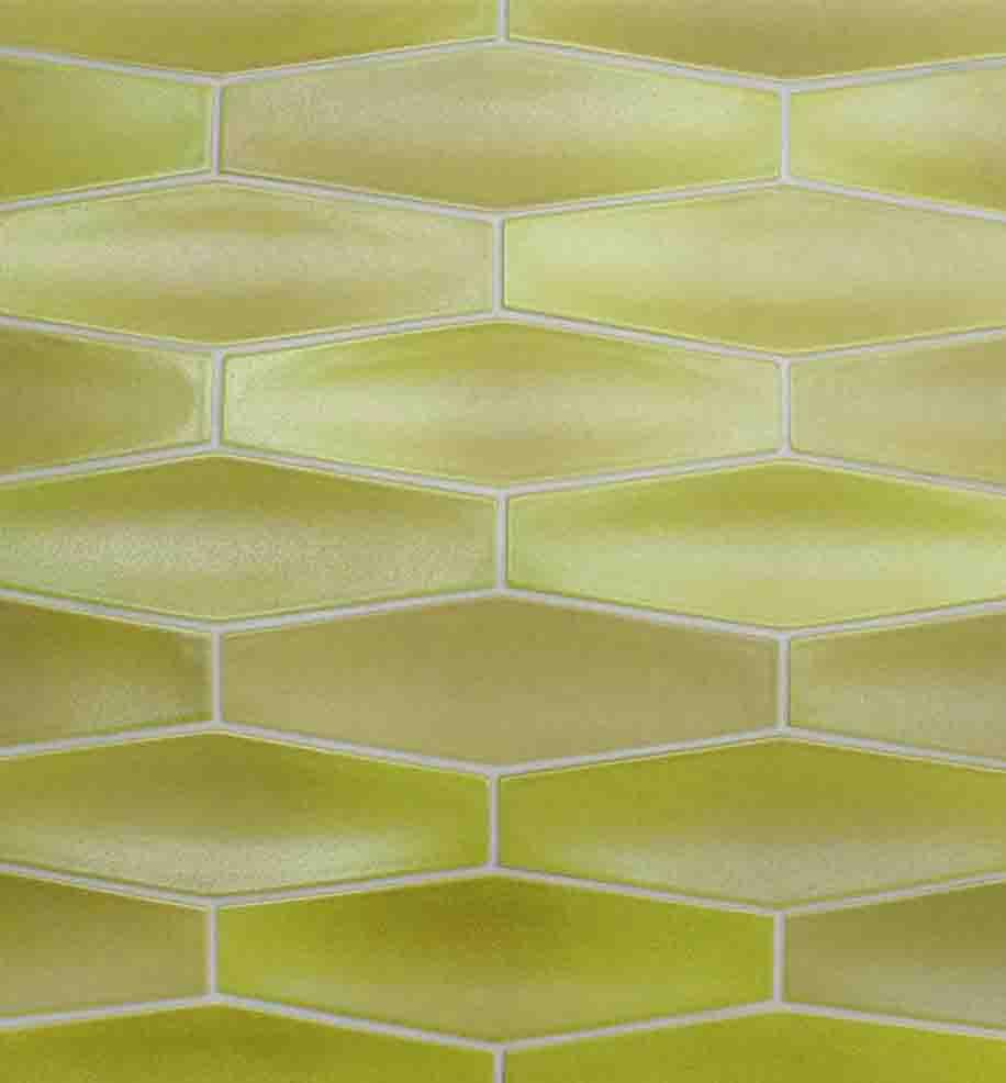 Heath Ceramics pattern in Lime