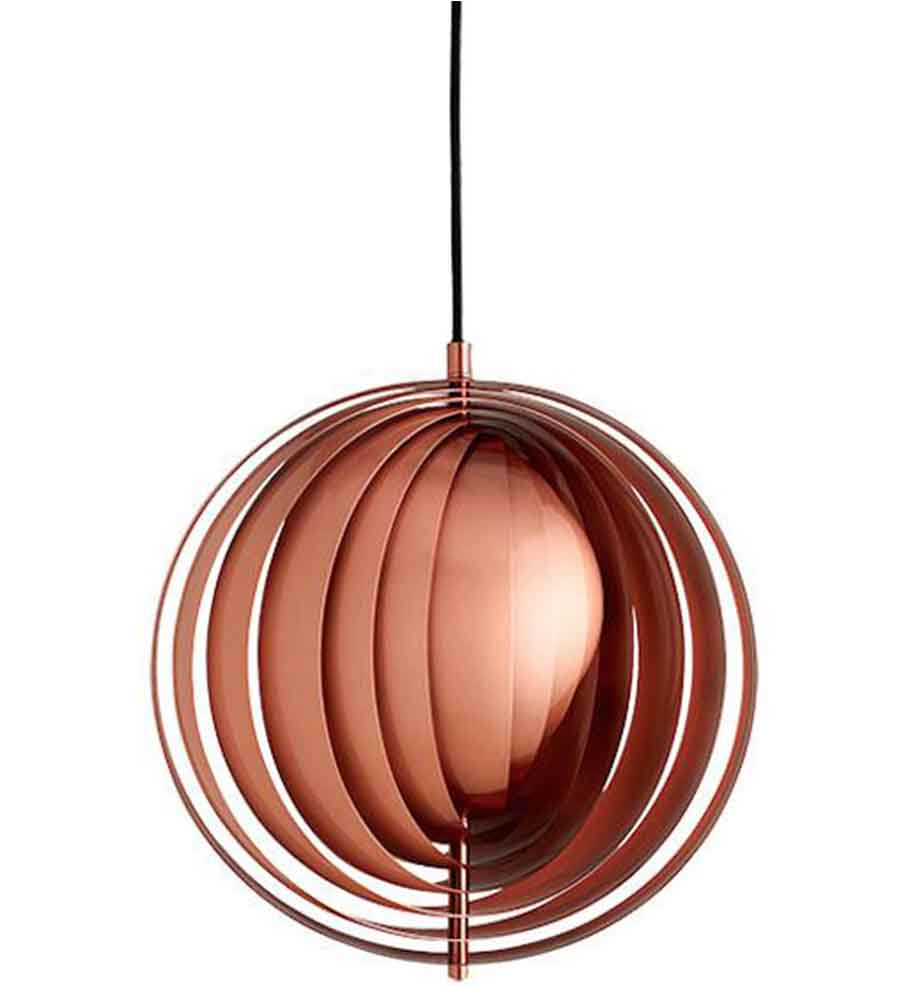 Moon Pendant in Copper - Verner Panton