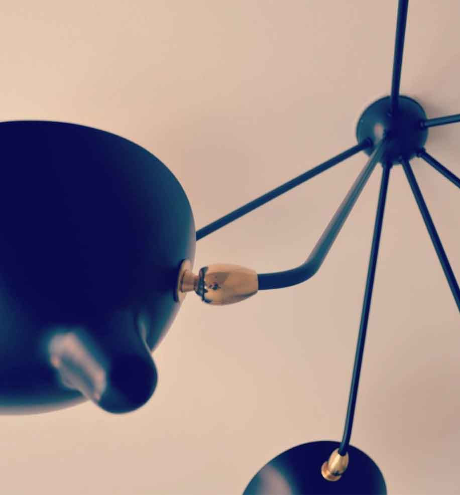 Serge Mouille detail Ceiling Lamp