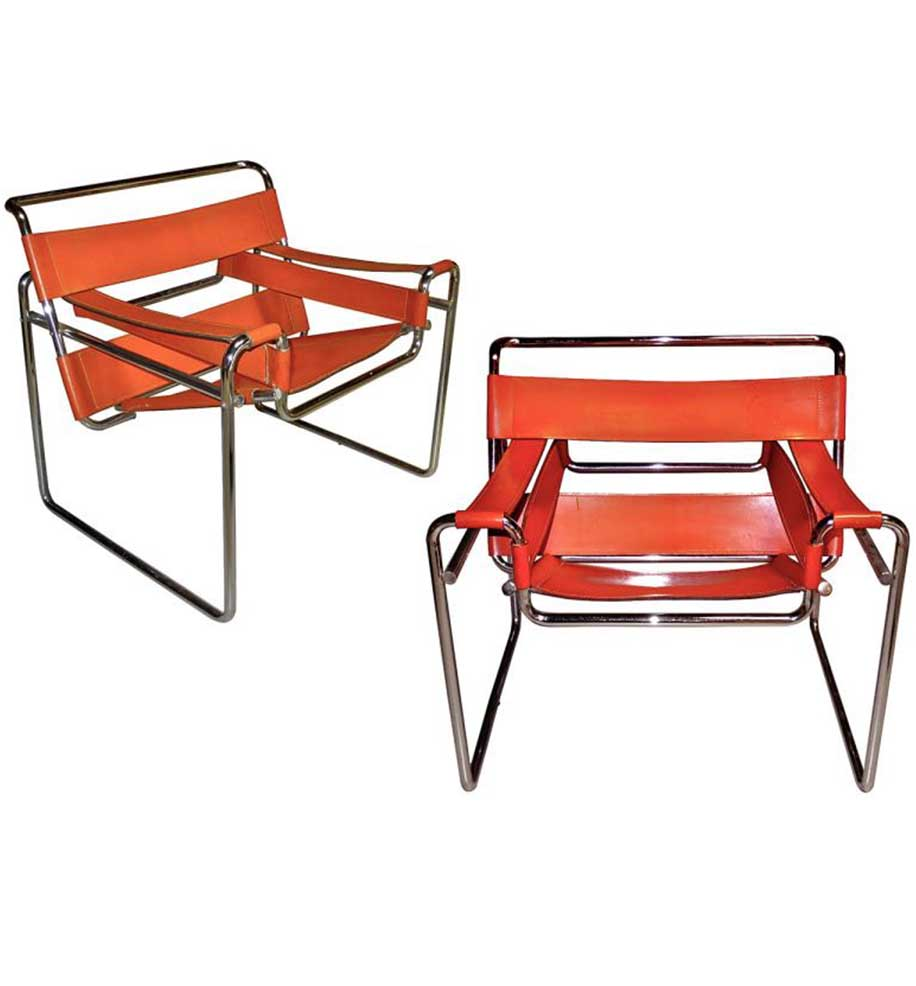 Set Wassily Chairs - Marcel Breuer